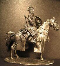 SOLDATINO di piombo giocattolo, Mongolo Khan, sul cavallo, da collezione, RARO, regalo, per