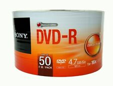 50 SONY Blank DVD-R DVDR Recordable Logo Branded 16X 4.7GB 120min Media Disc