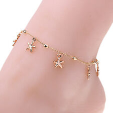 Female Anklet Gold Bead Chain Ankle Bracelet Barefoot Sandal Beach Foot Jewelry