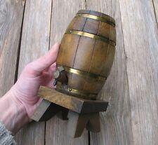 Vintage Wood / Wooden Barrel / Cask Cigarette Dispenser / Holder