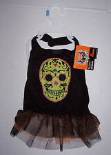 NWT Bret Michaels Skull Dress Dog Costume Medium Halloween