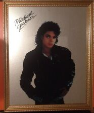 MICHAEL JACKSON SIGNED WALL MIRROR BAD ERA UNIQUE VERY RARE COLLECTORS ITEM VGC