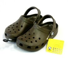 Brand New CROCS KIDS CLASSIC CAYMAN Size M1W3 1/3  Brown kids shoes sandals