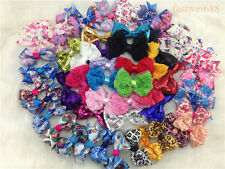HUGE LOTS 50PCS Girl Baby Hair Bows Boutique Grosgrain Ribbon Headband 5-Style Y