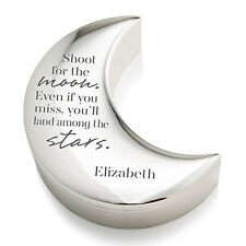 Personalized Half Moon Jewelry Box Shoot For The Moon Bridal Shower Wedding Gift