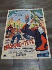 MUSIQUE EN TÊTE J. Hélian Gabriello 1951 Affiche Originale 120x160 Movie Poster