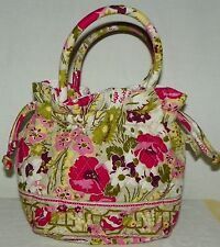 Vera Bradley Make Me Blush Double Handle Drawstring Hobo Purse Bag