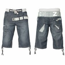 BRAND NEW MENS ENZO DENIM SHORTS IN 3 COLOURS DARK WASH & LIGHT WASH ALL SIZES