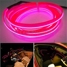 Car 12V 5M Panel Gap Pink Decorative Atmosphere LED Cold EL Neon Lights Strip