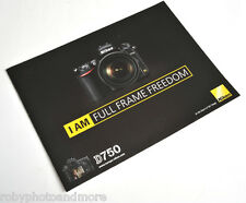 NIKON D750 DEPLIANT BROCHURE ORIGINALE IN ITALIANO!