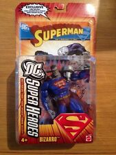 2006 DC Superheroes Superman Bizarro Action Figure With Comic, MOC