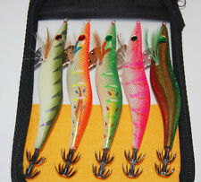 5PCS Crankbaits 13cm 19.5g Fishing wood Shrimp lure Lures Squid bait hook Hard