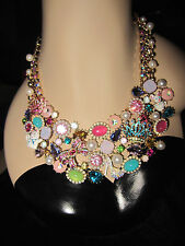 BETSEY JOHNSON PRINCESS CHARMING SHOE CROWN CAT MOUSE STATEMENT NECKLACE