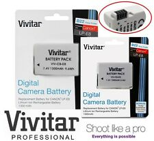 2 Pcs Hi Capacity Vivitar LPE8 Li-Ion Battery for Canon LP-E8