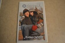 kertzer knitting pattern book #453 Round cable hat mittens scarf men women