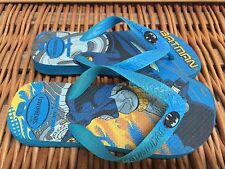 HAVAIANAS Boys BATMAN Blue Flip Flops SANDALS 1