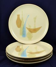 Vtg Lot of 4 Red Wing Pottery Pompeii Duo-Tone Dinner Plates 1960s Vases Bowls