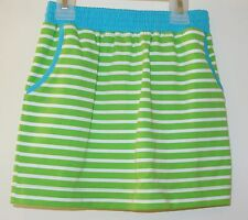New Kelly's Kids Sadie Lime/White Stripe Seaside Skirt ~ Girl's Size 18M