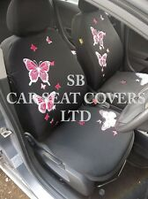 TO FIT A VW PASSAT CAR, SEAT COVERS, ROSSINI PINK BUTTERFLY FULL SET + MAT SET