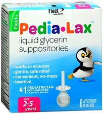 Fleet Pedia-Lax Liquid Glycerin Suppositories 6 Each (Pack of 9)