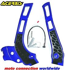 NEW ACERBIS X-GRIP FRAME GUARDS PROTECTORS - BLUE for YAMAHA YZ125 YZ250 05-16