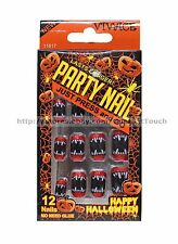 VIVACE* Pre-Glued PARTY NAIL Press-On Nails HALLOWEEN For Adults *YOU CHOOSE*