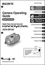Sony DCR-SR100 Camcorder User Instruction Guide Manual