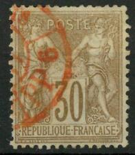 """FRANCIA - 1876/81 - Tipo """"Sage"""" (Pace e Commercio) - I tipo - 30 c. bruno chiaro"""
