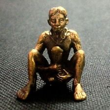 Thai Amulets Mr. Paladkik I-PER Brass figurine Magic Love Sex Charm Rich Lucky