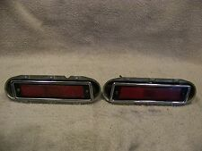 1970 CHRYSLER 300 RED SIDE MARKER LIGHTS COMPLETE OEM
