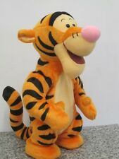 "TALKING BOUNCING JUMPING TIGGER LGE 12"" WINNIE THE POOH SOFT TOY BY MATTEL 1998"
