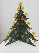 Vintage Christmas Tree Advent Calendar From Denmark IOP I. Levison Jr.