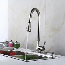 Kitchen Sink Faucet Pull-Out Spray Swivel Spout Dispenser 18'' Brushed Nickel