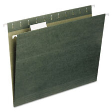 Smead Recycled Hanging File Folders 1/5 Tab 11 Point Stock Letter Green 25/box