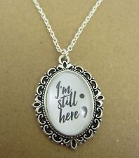Semi Colon I'm Still Here Necklace New in Gift Bag Mental Health Awareness