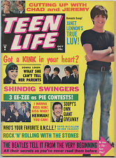 The Beatles Teen LIFE Vintage Magazine 1965 October w/ Flip Turn Flap