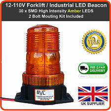 12v-110v LED Flashing Beacon For Forklift Truck Digger Tractor JCB Strobe Light