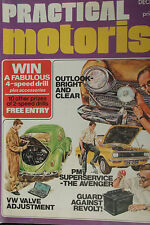 PRACTICAL MOTORIST, DEC 74 feat VW BETTLE, AVENGER, TRIUPM HERALD, FORD CAPRI