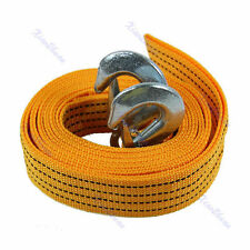 Car Tow Cable Heavy Duty Towing Pull 4M Rope 5 Ton Strap Hooks Van Road Recovery