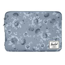 "Herschel 15"" Grey Floral Laptop Anchor Sleeve Cover Macbook Pro Case"