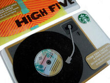 STARBUCKS COFFEE GIFT CARD RECORD PLAYER VINTAGE ALBUM HIGH 5 LOT 2 CARDS