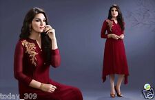 Designer Fancy Georgette Semistitched Long Kurti For Girl-Women's