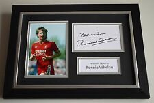 Ronnie Whelan Signed A4 FRAMED photo Autograph display Liverpool Football & COA