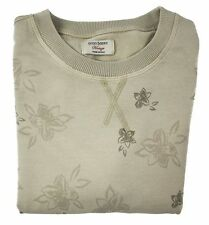 New GRAN SASSO Vintage Beige Printed Floral Cotton Sweater Shirt 50 M S NWT!