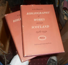 A Bibliography of Works Relating to Scotland 1916-1950 - P. D. Hancock (2 Vols)