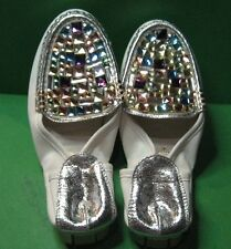 Women's Foldable Jeweled Silver-heel Shoe - Size 5.5 - Made in Korea - NEW