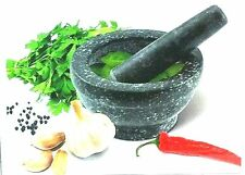 17cm Pestle And Mortar Natural Granite Mortar & Pestle Herb Grind Grinder Paste