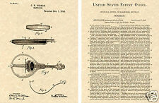 Gibson MANDOLIN US Patent Art Print READY TO FRAME!!!! 1898 Orville guitar