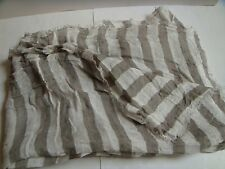 GREY AND WHITE STRIPED CRINKLY SCARF FROM H&M WITH LINEN