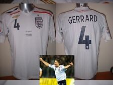 England GERRARD Large 08 Shirt Jersey Football Soccer Umbro Liverpool World Cup